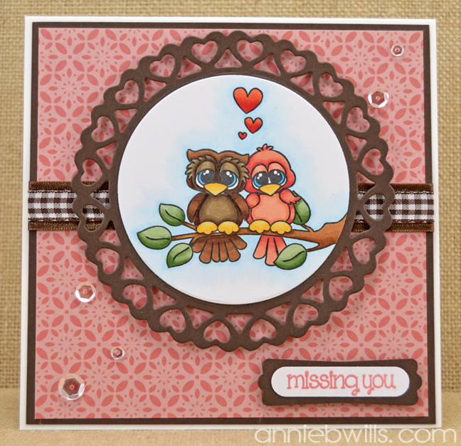 Owl Be Missing You Card by Annie Williams - Full