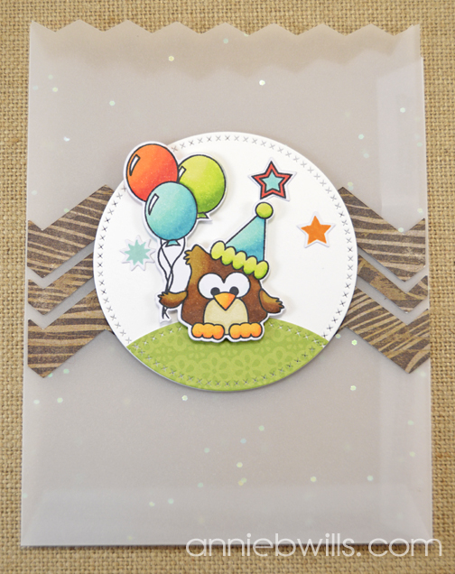 Birthday Owl Treat Bags by Annie Williams - Balloons Detail