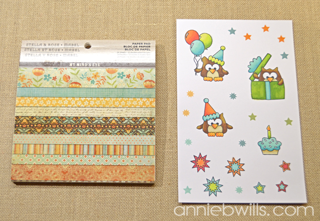 Birthday Owl Treat Bags by Annie Williams - Coloring
