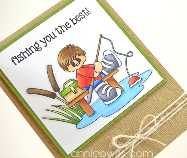 Fishing You The Best Card by Annie Williams - Side