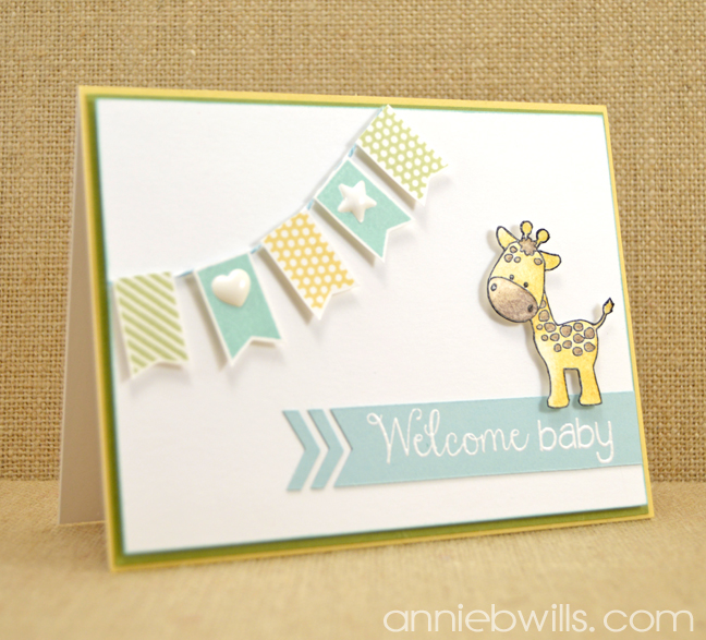 Welcome Baby Banner Card by Annie Williams - Main
