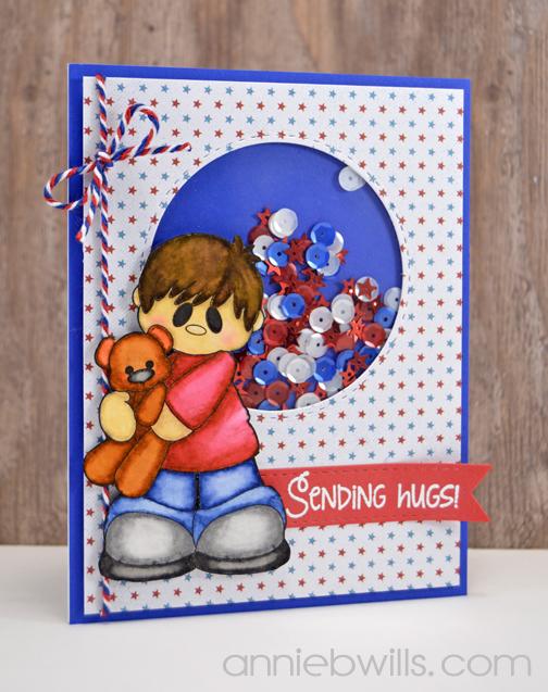 Sending Patriotic Hugs Card by Annie Williams - Main