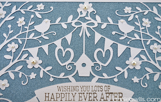 Intricate Overlay Wedding Card by Annie Williams - Detail