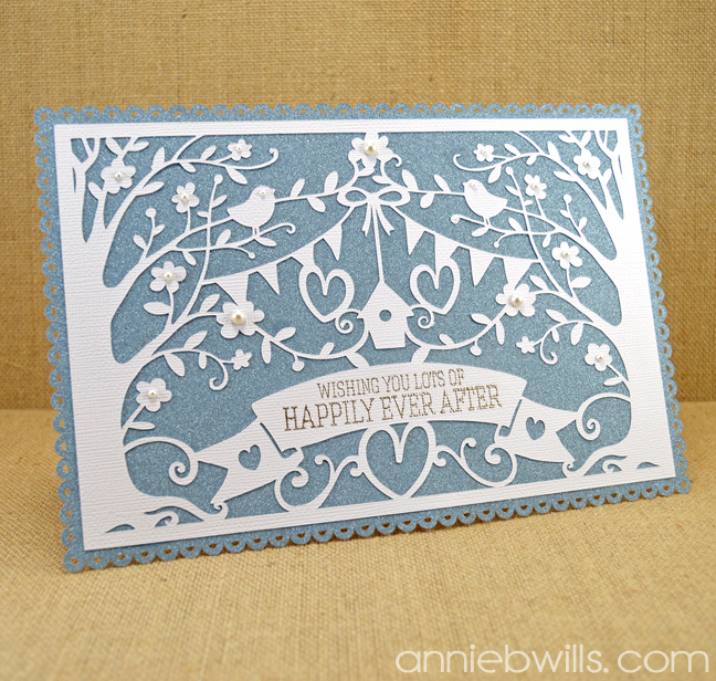 Intricate Overlay Wedding Card by Annie Williams - Main