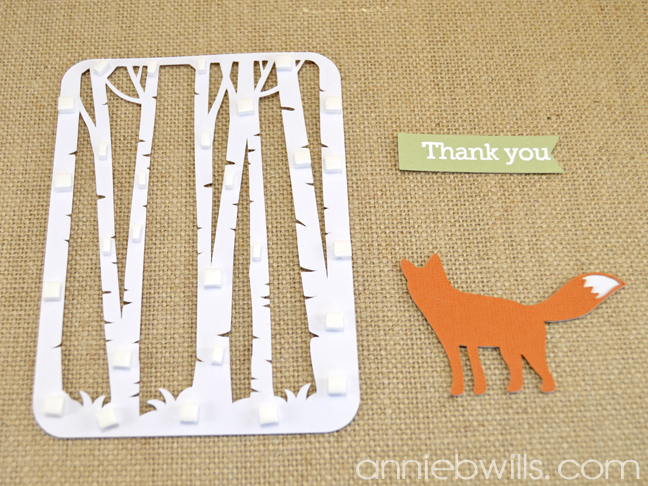 Woodland Thank You Cards by Annie Williams - Cut Pieces