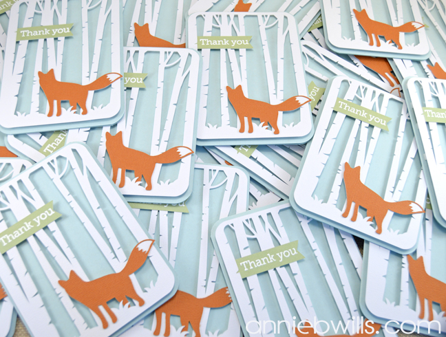 Woodland Thank You Cards by Annie Williams - Multiples