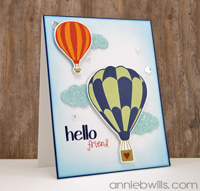 Balloons in the Clouds Card by Annie Williams - Main