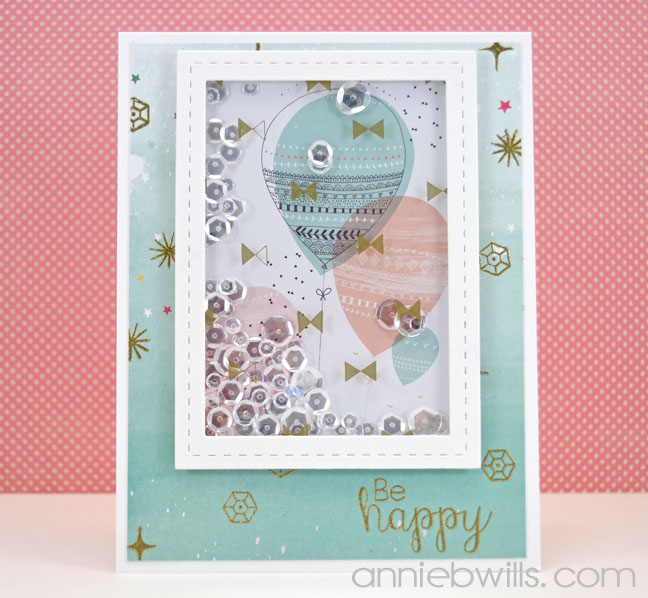 Be Happy Shaker Card by Annie Williams - Main
