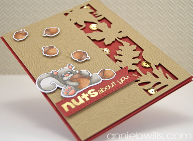 Nuts For You Card by Annie Williams - Side