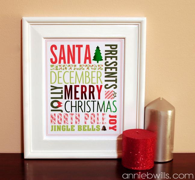 Christmas Subway Art by Annie Williams - Main