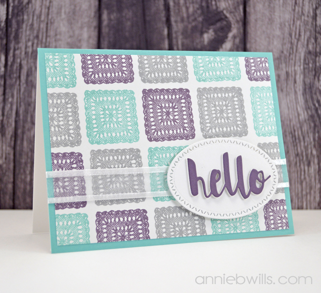 Lacey Hello Card by Annie Williams - Top