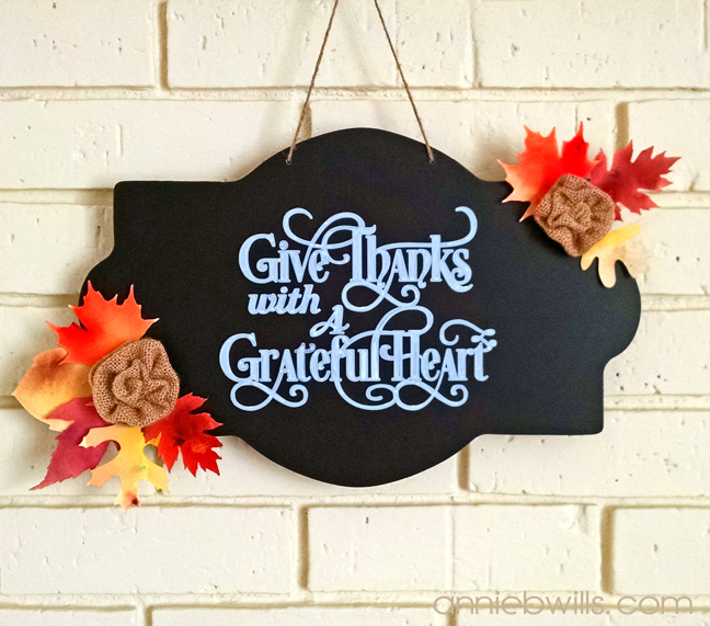 Thanksgiving Chalkboard Sign by Annie Williams - Full