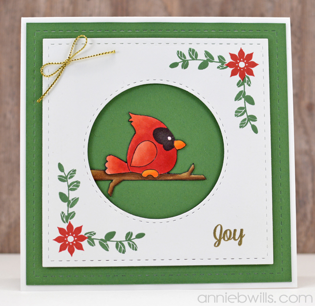 Cardinal Christmas Card by Annie Williams - Full