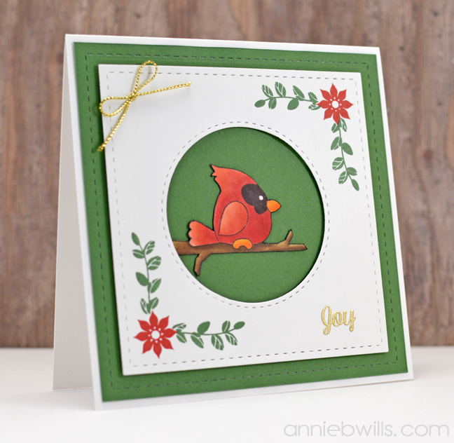 Cardinal Christmas Card by Annie Williams - Main