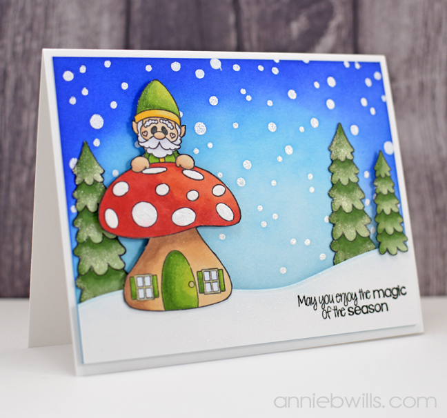 Gnome Christmas Card by Annie Williams - Main