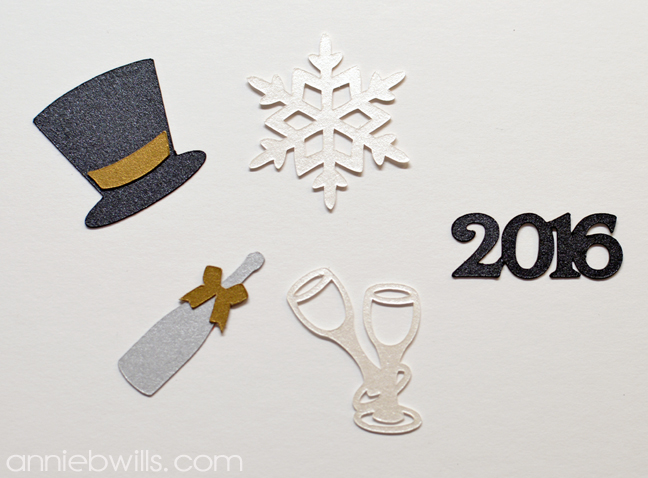 New Year's Eve Cupcake Toppers by Annie Williams - Die-cuts