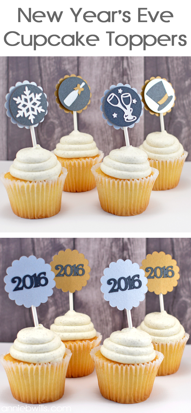 New Year's Eve Cupcake Toppers by Annie Williams - Header