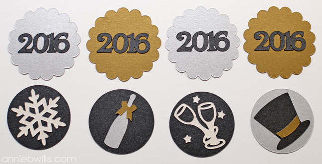 New Year's Eve Cupcake Toppers by Annie Williams - Liquid Glue