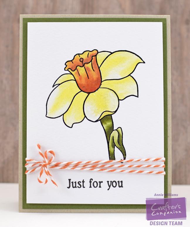 Sparkly Daffodil Card by Annie Williams - Full