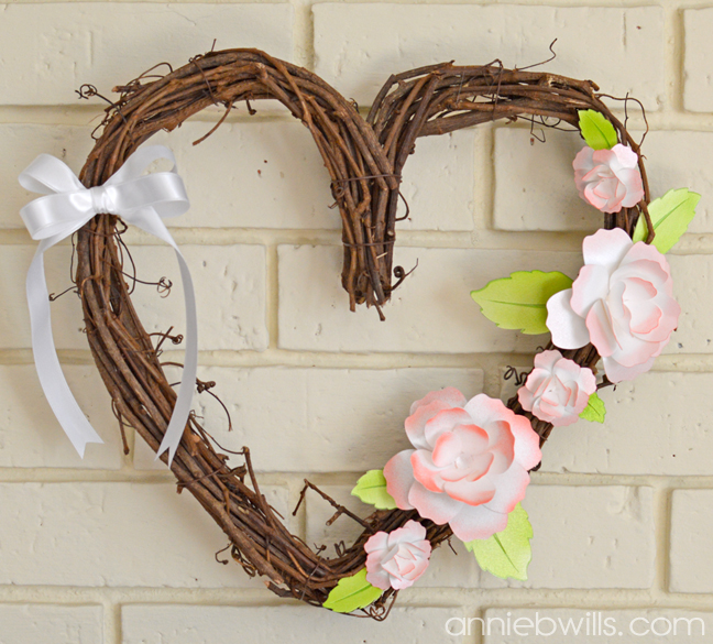 Springtime Heart Wreath by Annie Williams - Main