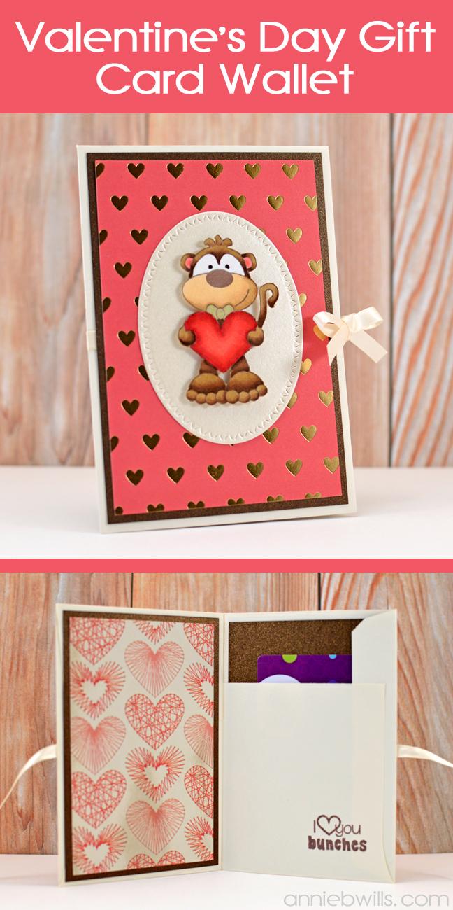 Valentines Day Gift Card Wallet by Annie Williams - Header