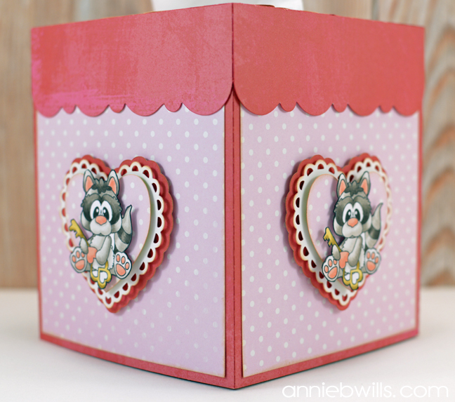 Valentine's Day Tissue Box Cover by Annie Williams - Side