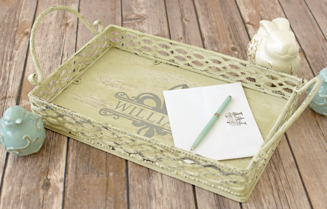 Monogrammed Letter Tray by Annie Williams - Full