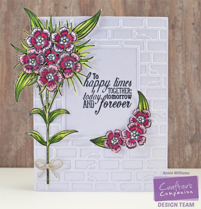 Sweet William Wedding Card by Annie Williams - Full