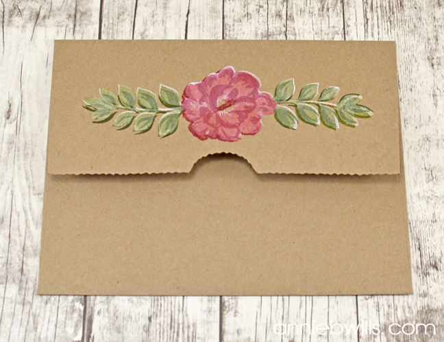 Painted Blooms Card by Annie Williams - Envelope
