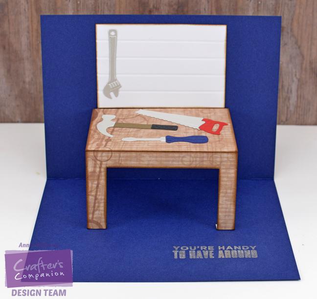 Pop Up Workbench Card by Annie Williams - Interior