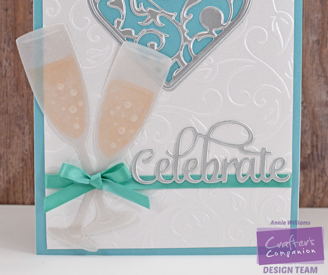 Celebrate with Champagne Card by Annie Williams - Detail