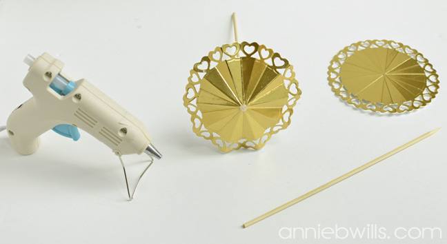 DIY Drink Umbrellas by Annie Williams - Gluing