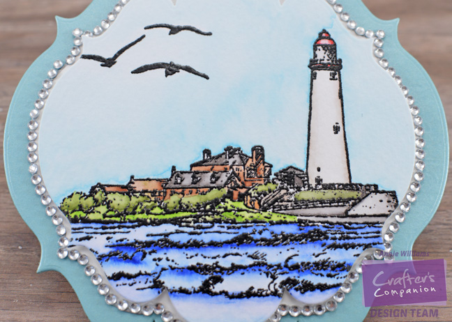 Seaside Encouragement Card by Annie Williams - Detail