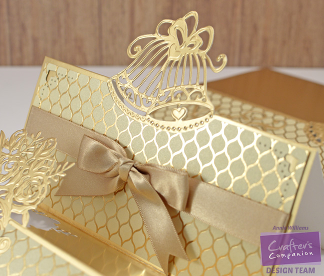 Triple Step Wedding Card by Annie Williams - Center Detail