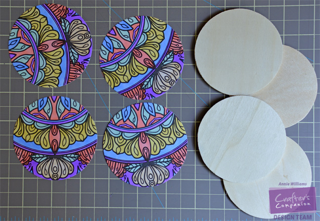 Colorista Drink Coasters by Annie Williams - Materials