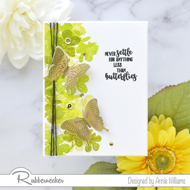 Rubbernecker Blog Loose-Watercolor-Butterfly-Cards-by-Annie-Williams-Foliage-Card