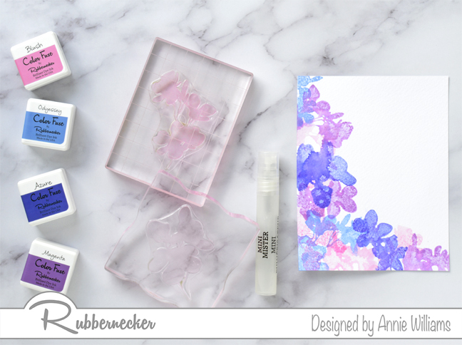 Rubbernecker Blog Loose-Watercolor-Butterfly-Cards-by-Annie-Williams-Hydrangea-Card-Background-Stamping