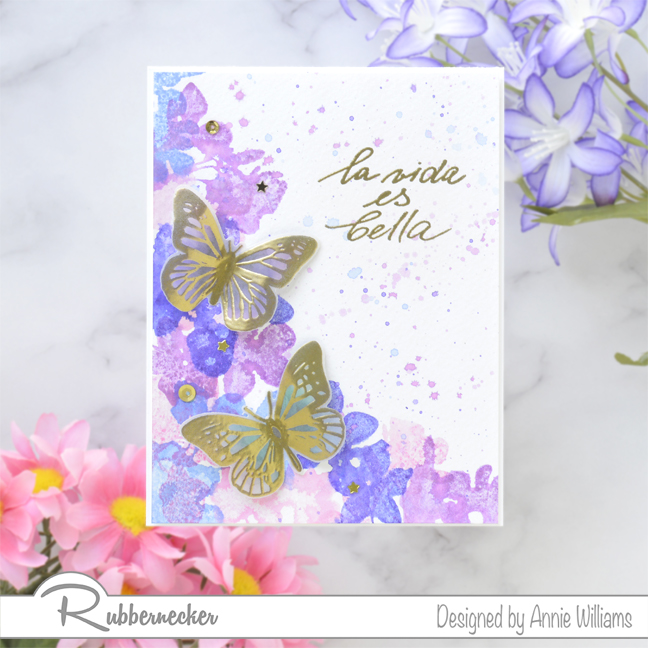Rubbernecker Blog Loose-Watercolor-Butterfly-Cards-by-Annie-Williams-Hydrangea-Card