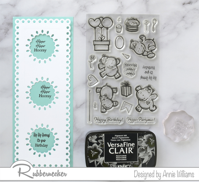 Rubbernecker Blog Hippo-Birthday-Slimline-Card-by-Annie-Williams-Sentiments