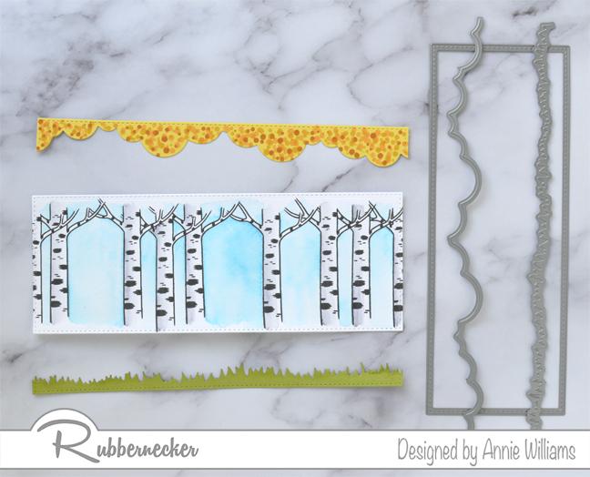 Rubbernecker Blog Autumn-Woodland-Slimline-Scene-Cards-by-Annie-Williams-Autumn-Gnomes-Background-Diecutting
