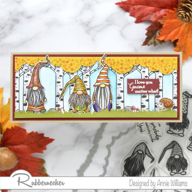 Rubbernecker Blog Autumn-Woodland-Slimline-Scene-Cards-by-Annie-Williams-Autumn-Gnomes-Final