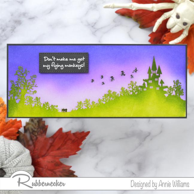 Rubbernecker Blog Slimline-Flying-Monkeys-Card-by-Annie-Williams-Final