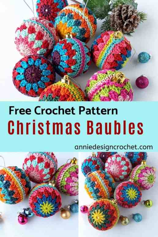 crochet christmas baubles easy free pattern