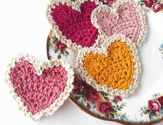 Vintage Crochet Hearts