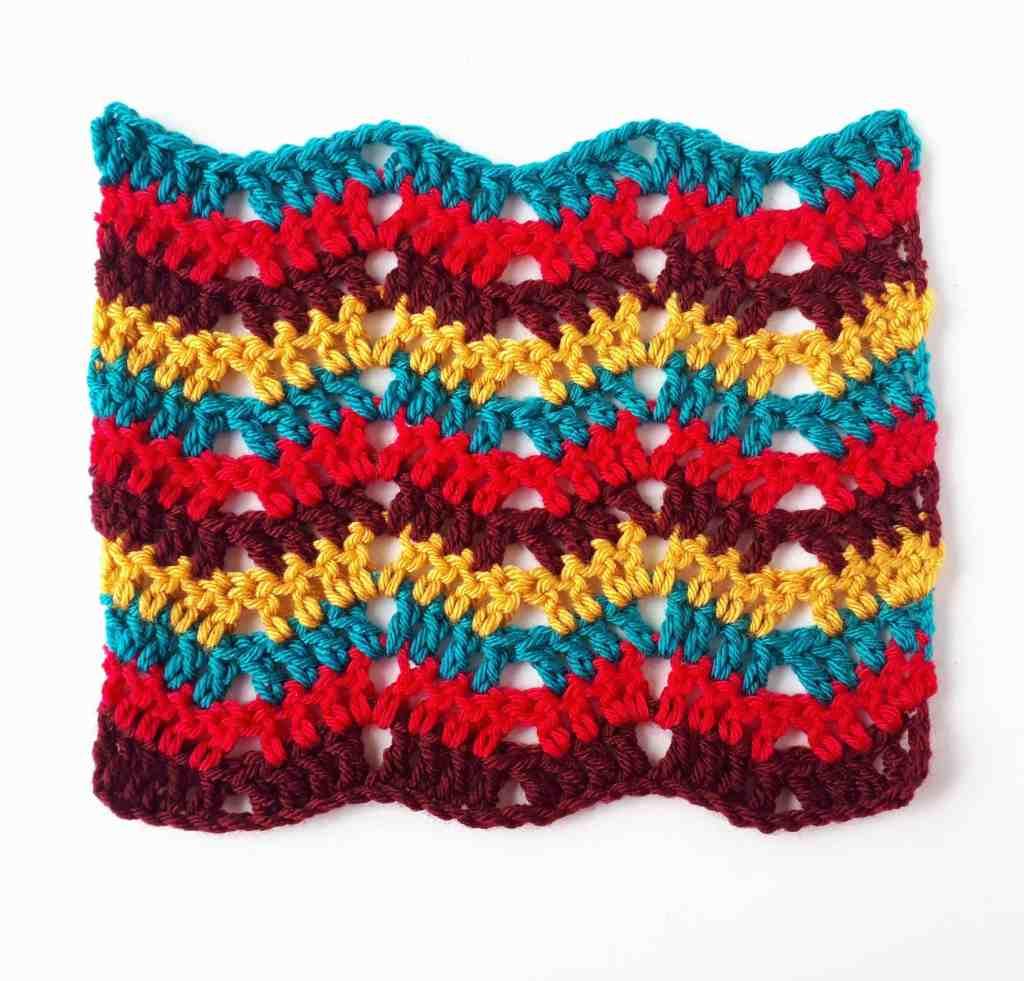 Easy Crochet Ripple Stitch Tutorial