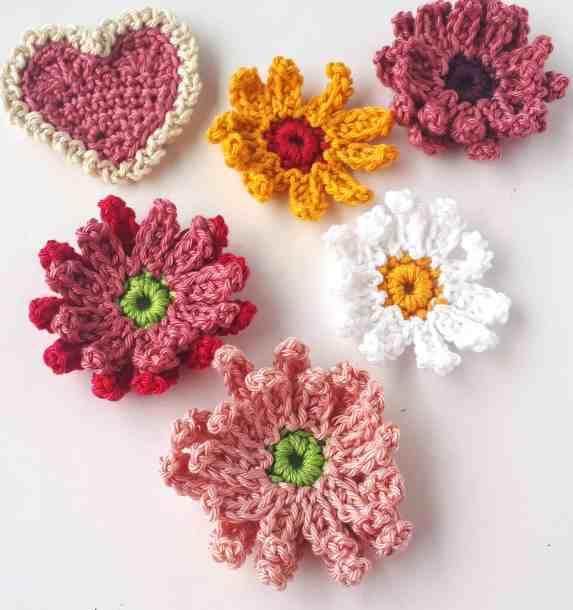 Gerbera Crochet Flowers free pattern