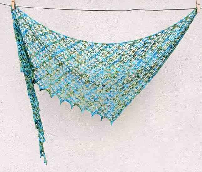 Flora Shawl One Skein Free Crochet Pattern Annie Design Crochet