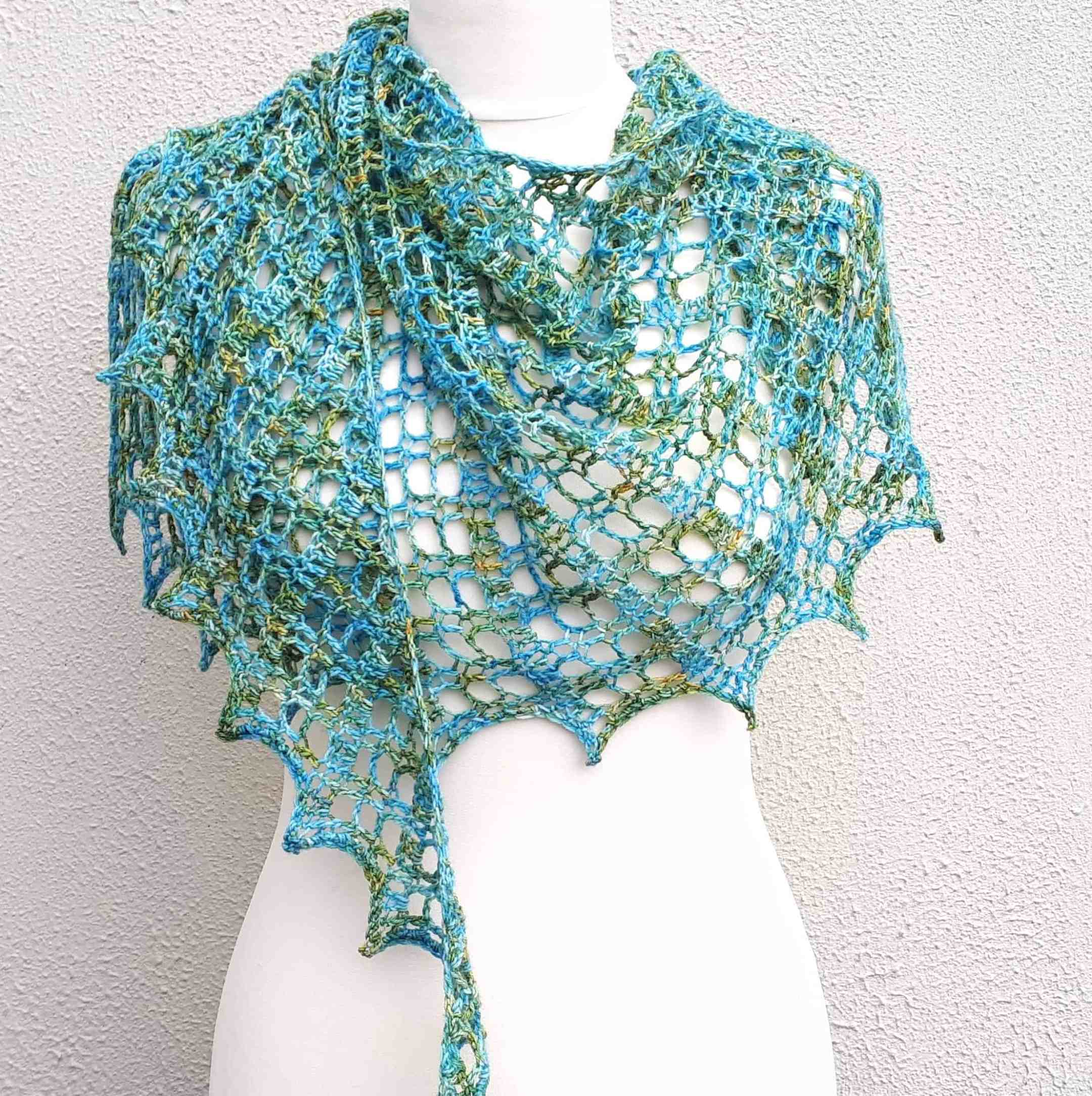 one skein crochet shawl free pattern