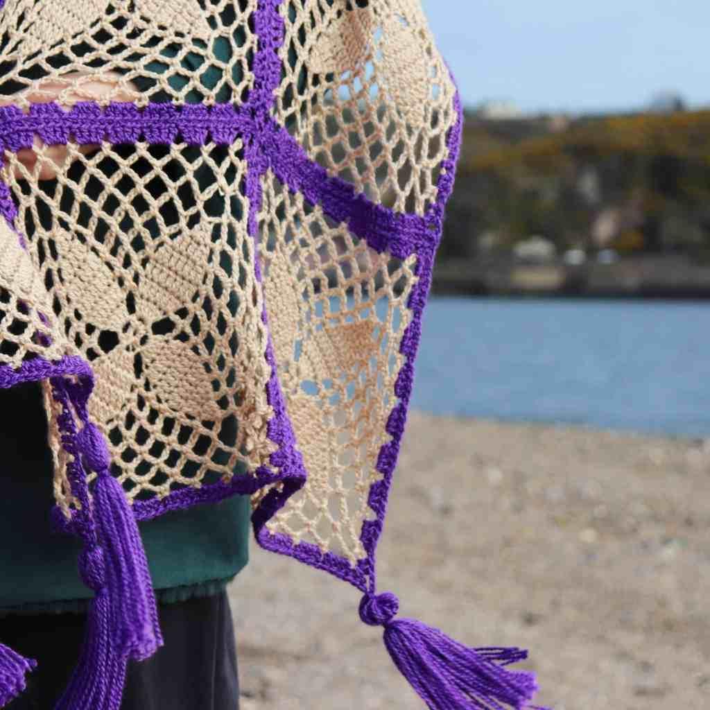 Lace Motif Crochet Wrap – Sweet Violet