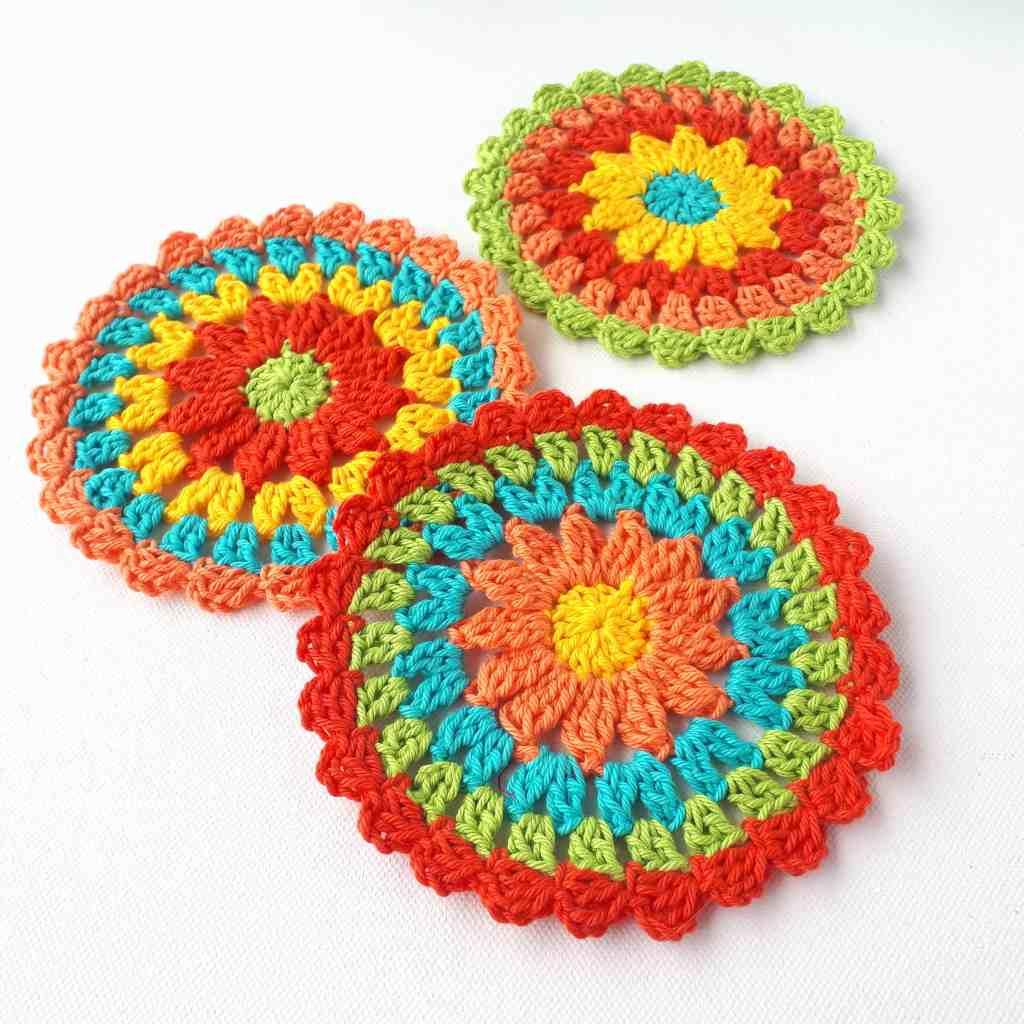 Zesty Coasters –  Easy Free Crochet Pattern